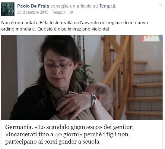 paolo de fraia post gender