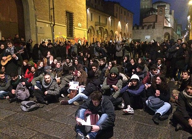 sit-in studenti unibo